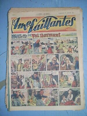 Ames Vaillantes mixed lot of 53 issues from 1950 french comics complete year