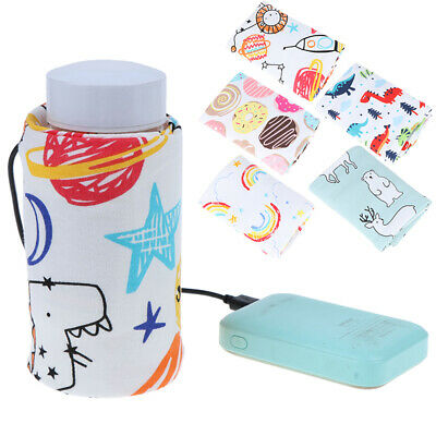 USB Baby Bottle Warmer Portable Milk Travel Cup Warmer Heater Bottle Cover UES