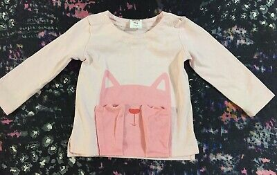 Seed Baby Girls 12-18 Months Long Sleeve Top Size 1