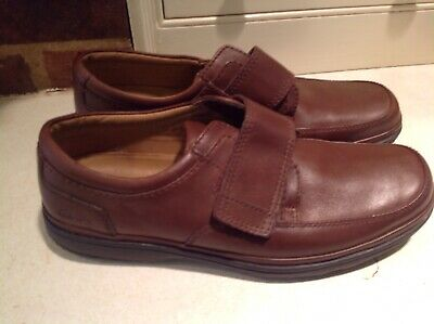 Mens Clarks Swift Turn Walnut Brown Leather Shoes WIDE H Fittting