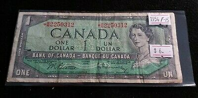 Canada 1954 $1 Dollar STAR / REPLACEMENT *B/M prefix Nice Banknote