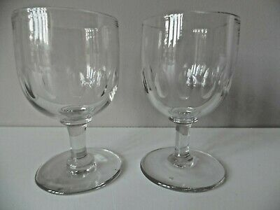 Two Antique 19Th Century Glass Victorian Rummers Petal Cut