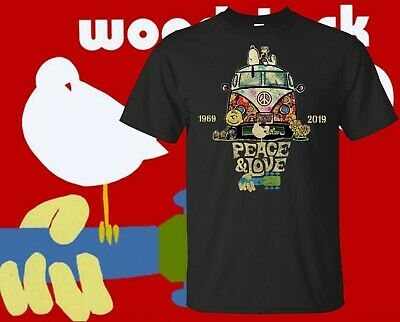Woodstock 50th anniversary 2019 Peanuts Hippie T-Shirt For Fan Made USA S-6XL