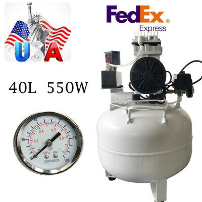 Portable Medical Dental Air Compressor Noiseless Oilless Oil Free Motor 40L 550W