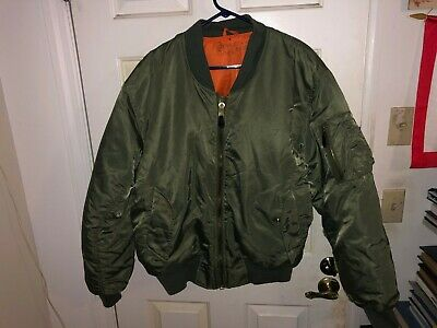 US Air Force MA-1 Pilot's FLIGHT Jacket Large