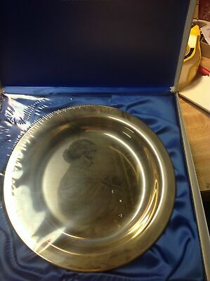 "1972 Franklin Mint Sterling Silver Irene Spencer 8"" Mother's Day Plate in Box"