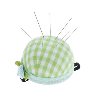 Pin Cushion Wooden Base Needle Pillow for Sewing Needles Pins XM