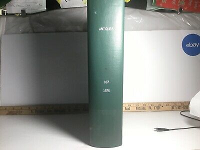 1975 Antiques the magazine Large Green Hard Cover Bound Lot Collection Book #107