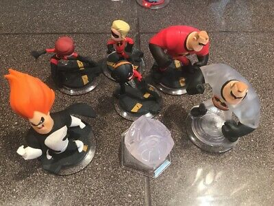 Disney Infinity Lot Figures Playset Crystal The Incredibles Dash Violet Set