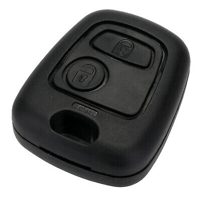 FOR PEUGEOT 106 107 206 207 307 406 SHELL 2 BUTTON REMOTE KEY FOB CASE COVER E7