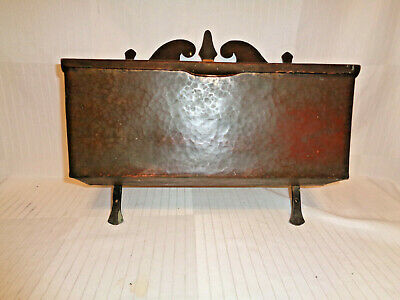 Fantastic Stickley Era Arts & Crafts Hand Hammered Copper Mailbox, Very Heavy