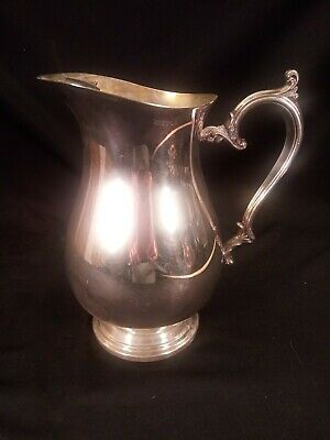 Wm Rogers Silverplate Pitcher With Ice Catcher