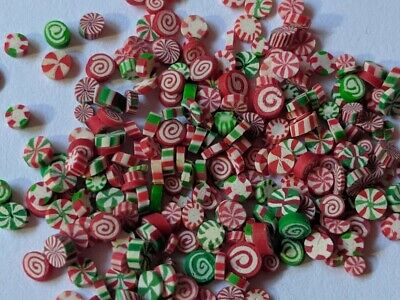Dollhouse Miniature food Candy -  Christmas Peppermint Mints Candies 1:12
