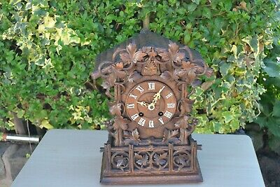 Blackforrest Carved Cuckoo Clock All Complete Except For Small Piece Of Carving