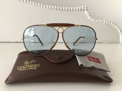 Exc Vtg*Nos*Ostrich Leathers*Blue Changeable Shooters B&L Ray-Ban Usa Sunglasses