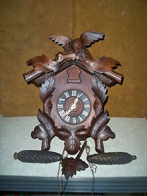 Antique American Cuckoo Clock Co. Black Forest Working 100% Early 1900'S