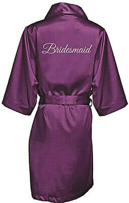 Bridesmaid, Mother of the Bride and Groom Robes with Silver Rose Glitter Print