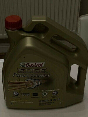 Castrol 5 Litres Edge 5W-30 C3 Long Life VW50400 VW50700 (collection only)