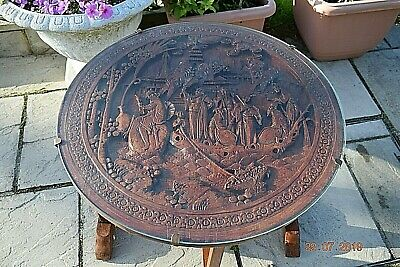 ANTIQUE CHINESE WOODEN HAND CARVED TEA TABLE FLIP TOP 24 ins wide 22 ins high