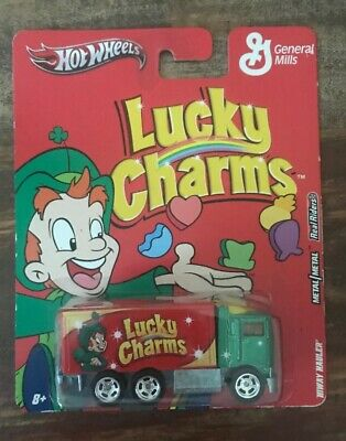 2011 HOTWHEELS NOSTALGIA GENERAL MILLS LUCKY CHARMS HIWAY HAULER NEW real riders