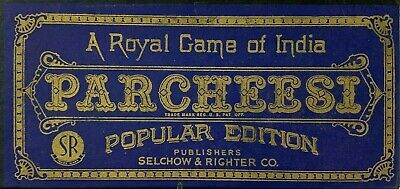 VINTAGE 1938 PARCHEESI Game A Royal Game of India Selchow