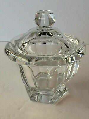 BACCARAT Clear Crystal Covered CANDY / NUT / CONDIMENT Dish with Lid