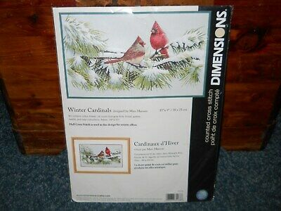 Dimensions Counted Cross Stitch Kit ~ Winter Cardinals ~  NIP