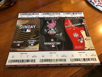 2019 MLB All Star Game TICKET FULL STRIP FUTURES CELEBRITY HOME RUN DERBY UNUSED