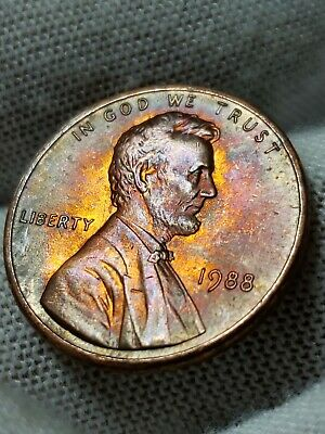 1988 Toned Lincoln Cent
