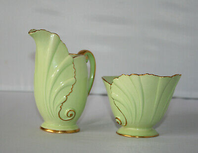 Vintage Carlton Ware Creamer And Sugar Bowl Nautilus Shape Australian Design