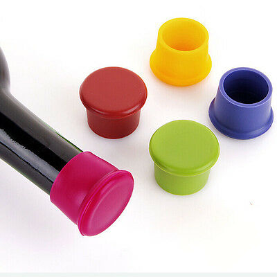 1/2/5X Wine Beer Plug Cap Bottle Cork Silicone Seal Bottle Stopper Gadget mw Bar Tools & Accessories
