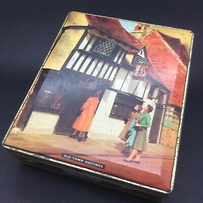 Vintage Edward Sharp & Sons Ltd. Tin: HASTINGS OLD TOWN, E. Sussex - VGC