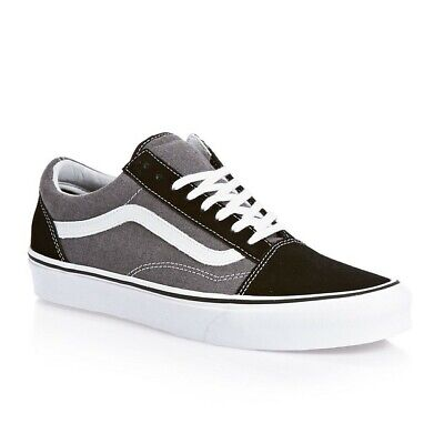 Vans Old Skool Mens Suede Chambray Black White VN0-VOKC4O New Classic Skate Shoe