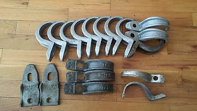 "2 1/2"" pipe conduit straps hangers lot of 16 with 2 back straps"