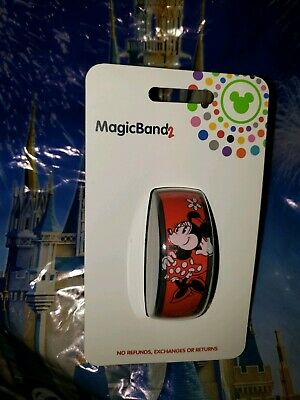 Disney Parks Classic Minnie Mouse Pie Eyed Red Magic Band Magicband 2 NEW