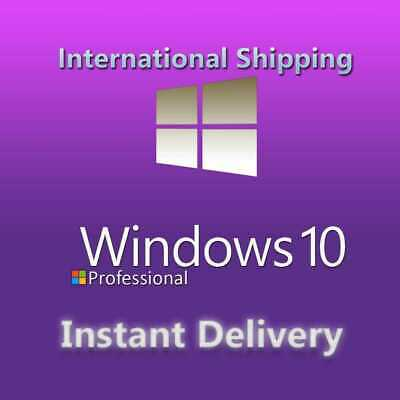 Instant Windows 10 Home/Pro Activation Key 32/64 bit WIN PC genuine license code