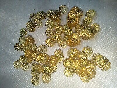 4g of bead caps small gold metal 7mm (b2010)