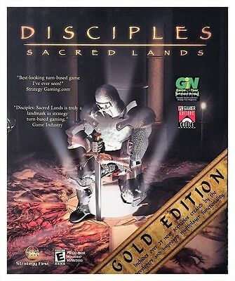 Disciples Sacred Lands Gold Edition Pc 2001 Brand New Sealed Big Box Nice XP