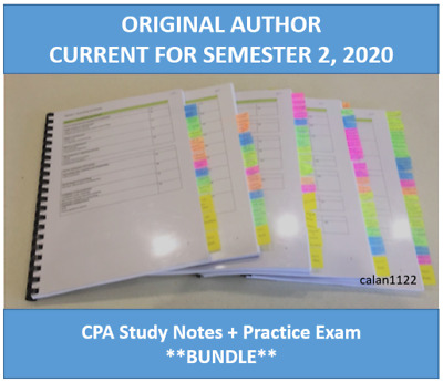 CPA FINANCIAL REPORTING HD study notes 2018 - $40 00
