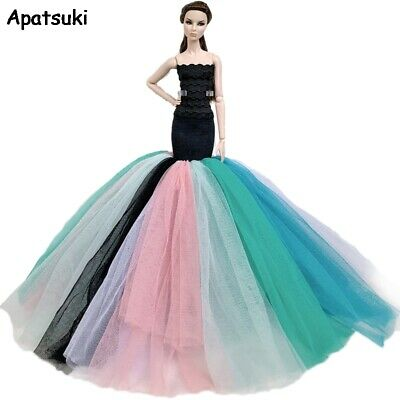 Fashion Wedding Dress for Barbie Doll Clothes Evening Dresses Party Gown Outfits