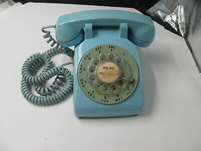 Vintage Western Electric Bell System 500DM turquoise Aqua Rotary Telephone Works