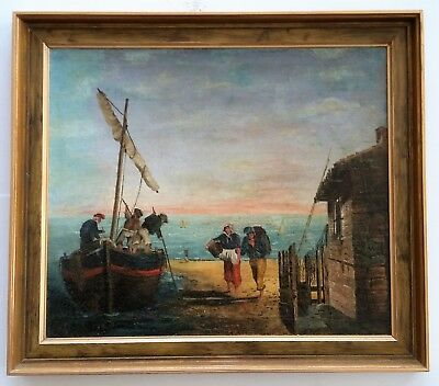 """Beautiful, Antique Oil on Canvas Board painting - 18.6""""x 21.6"""". Not Signed"""