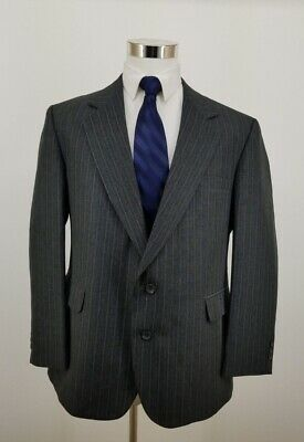 REED ST JAMES Mens Business Blazer Coat Jacket Black Dark Gray 44 S