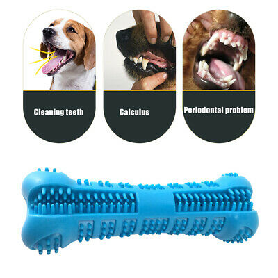 Pet Dog Bone Toothbrush Brushing Chew Toy Stick Teeth Cleaning Oral Care Toys