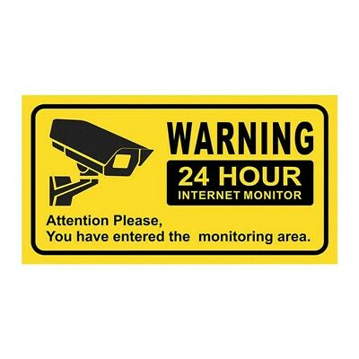 CCTV Sticker, PACK OF 10 Security, Camera, Warning Sign New