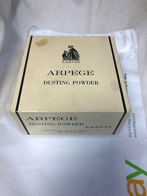 Vintage Lanvin Arpege Dusting Powder Large 8 1/4 oz SEALED UNUSED w/ Open Box