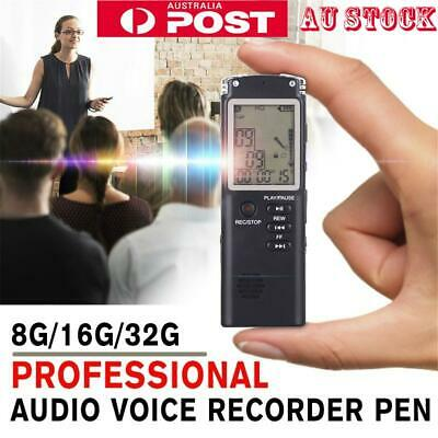8GB 16GB 32GBUSB Digital Sound Voice Recorder Dictaphone MP3 Player Rechargeable