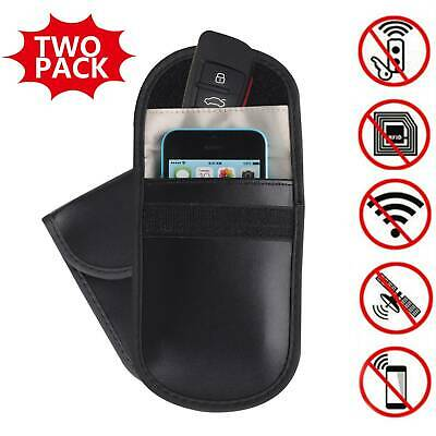 2 x Car Key Signal Blocker Case Faraday Cage Fob Pouch Keyless Blocking Bag