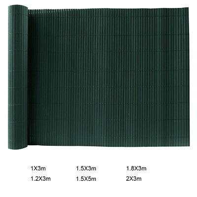PVC Garden Artificial Bamboo Screening Roll Mat Border Wind Panel Privacy Fence