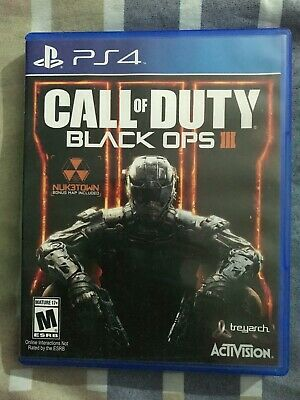 Call of Duty Black Ops 3 PS4 Playstation 4 COmplete very good Used COD